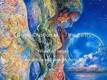 Greek Mythology Creation of the Earth Short Story Bundle and Power Point