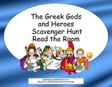 The Greek Gods and Heroes Scavenger Hunt- Read The Room- Grades 3-6