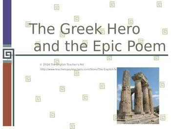 The Greek Hero and The Epic Poem PowerPoint