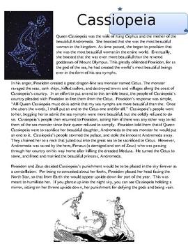 The Greek Myth of Cassiopeia