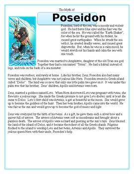 The Greek Myth of Poseidon