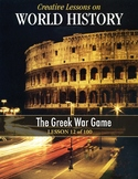 The Greek War Game! WORLD HISTORY LESSON 12/100, Fun Class Activity+Quiz