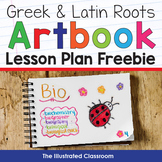 Greek and Latin Roots Art Book Lesson Plan