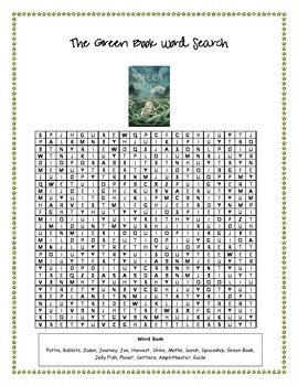 The Green Book Word Search- FREEBIE