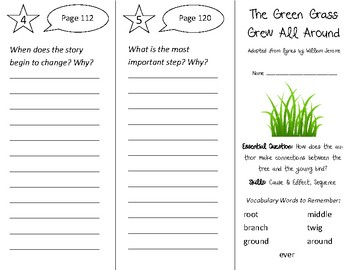 The Green Grass Grew All Around Trifold - Open Court 2nd Grade Unit 4 Lesson 5