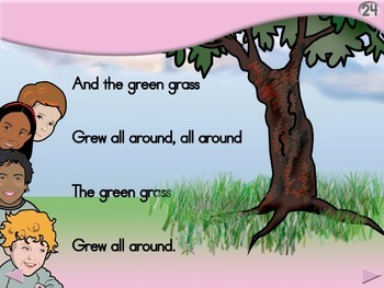 The Green Grass Grew - Animated Step-by-Step Song - Regular