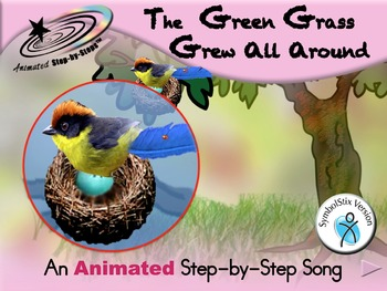 The Green Grass Grew - Animated Step-by-Step Song - SymbolStix