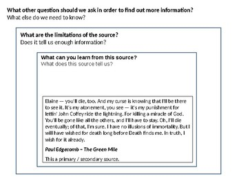 The Green Mile Source Analysis Source Activity