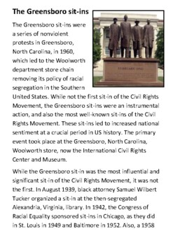 The Greensboro sit-ins Handout