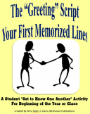 """The Greeting"" Script Activity - Icebreaker for New Class"