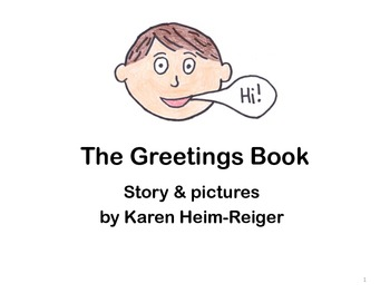 The Greetings Book for teaching greetings to students with autism