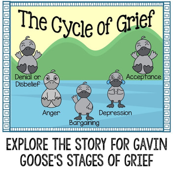Stages of Grief Printable Story for Early Elementary School Counseling