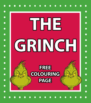 The Grinch Colouring Page