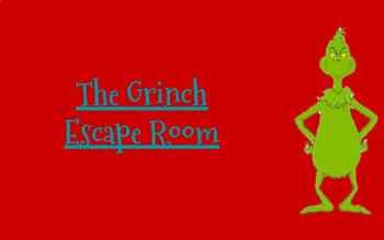 The Grinch Digital Escape Room
