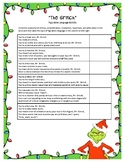The Grinch Figurative Language and Characterization Activity