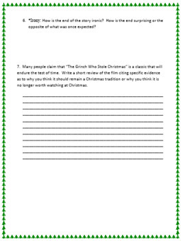 The Grinch Literary Term Review