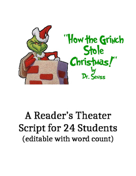 The Grinch Who Stole Christmas Reader's Theater Script