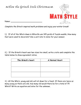 The Grinch...Math Style