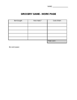 Multiplying Decimals With The Grocery Game