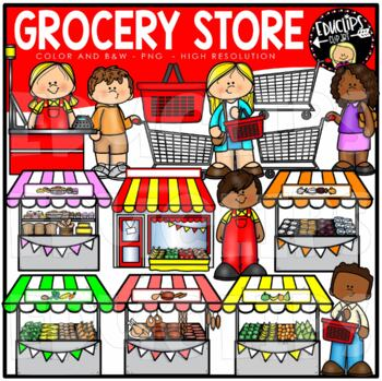 The Grocery Store Clip Art Bundle {Educlips Clipart}