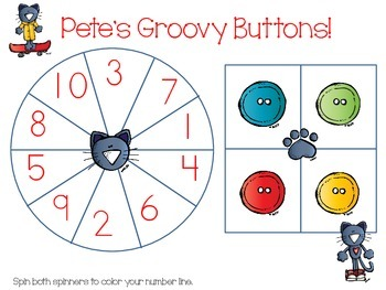 The Groovy Cat-Learning #1-10 with number line, numbers, and tens frames