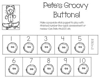 The Groovy Cat-Learning #1-10 with number line, numbers, a