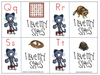 The Groovy Cat Letter and Initial sound picture match game