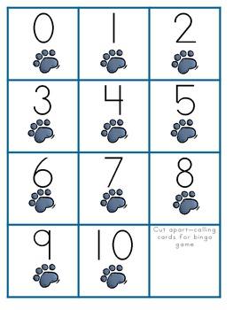 The Groovy Cat Number Bingo 0-10