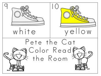 The Groovy Cat Read and Write the Room Color Words