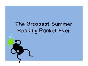 The Grossest Summer Reading Packet Ever: Elementary Style