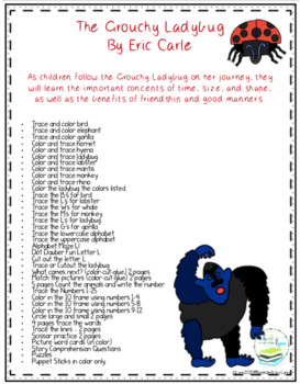 The Grouchy Ladybug Book Unit by Eric Carle
