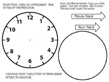 The Grouchy Ladybug Clock Craftivity