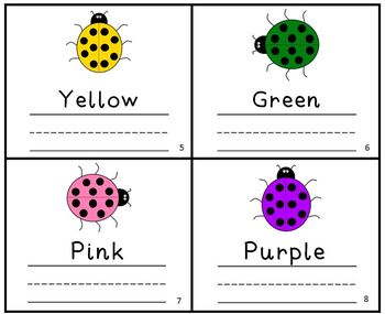 Ladybug Color Writing Practice Reader Mini Book