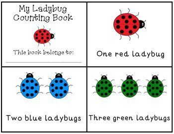 Ladybug Counting Mini Book Emergent Reader