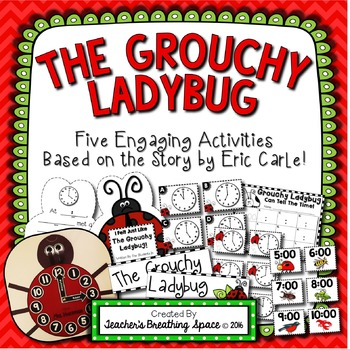 Grouchy Ladybug -- Telling Time To The Hour and Half-Hour