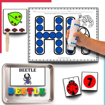 The Grouchy Ladybug Literacy and Math Center Activities