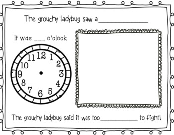 The Grouchy Ladybug Literature & Math Unit