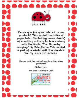 The Grouchy Ladybug Narrative Writing