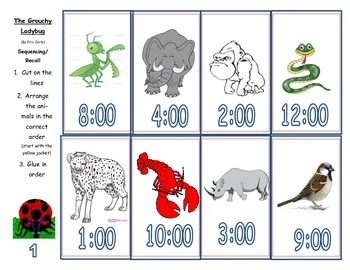 The Grouchy Ladybug Recall/Sequencing Activity