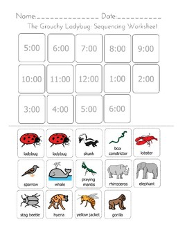 the grouchy ladybug sequencing worksheet by differently abled education. Black Bedroom Furniture Sets. Home Design Ideas