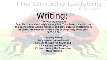 Sub Plans The Grouchy Ladybug