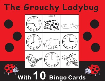 The Grouchy Ladybug by Eric Carle -Tic Tac Toe Bingo Game Cards