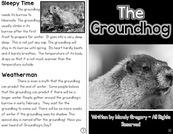The Groundhog: A Differentiated Nonfiction Resource for 3rd Grade