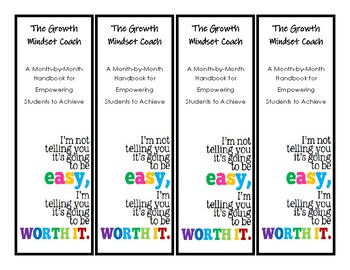 The Growth Mindset Coach Book Study Bookmarks