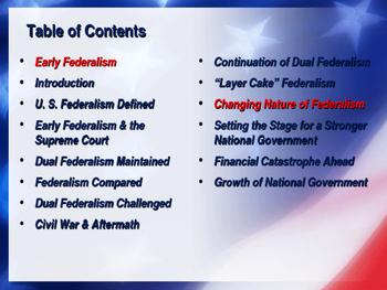 Establishing the US Government - Growth of Federalism