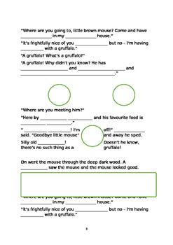 The Gruffalo Editable Rewrite template/frame