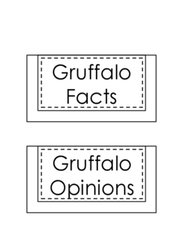 The Gruffalo - Fact and Opinion Interactive Notebook