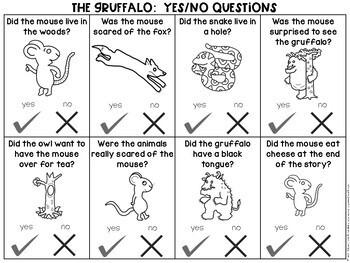 The Gruffalo:  No Prep Speech & Language Activities