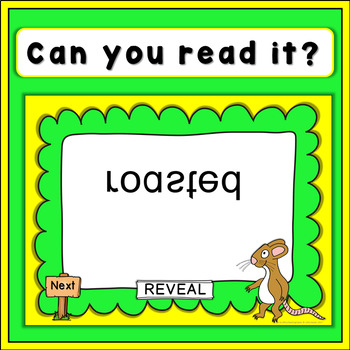 The Gruffalo PowerPoint Game, can you read it?