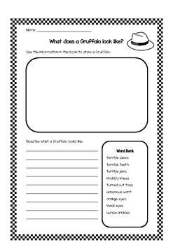 The Gruffalo - Put your thinking hats on!